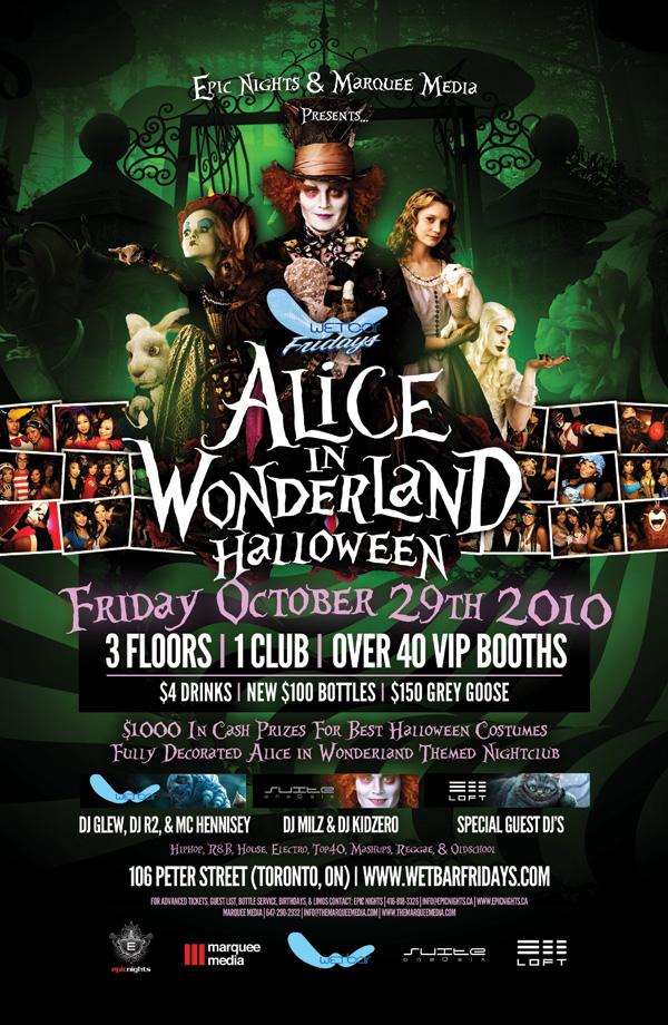 Alice In Wonderland Halloween Wetbar Suite 106 Loft